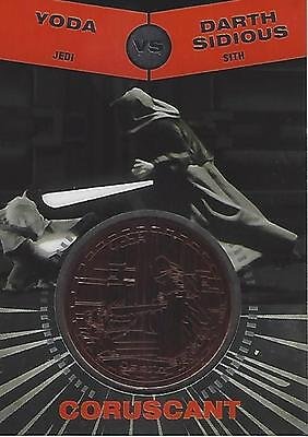 Star Wars Chrome 2015: Yoda vs Darth Sidious Medallion #25