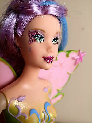 MERMAIDIA- Barbie Fairytopia- Loose- Color Change Hair!- Nice Purple Curls!