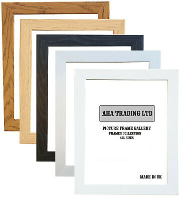 Black Oak White  Picture Frame Photo Frame Wood Effect Various Sizes Available