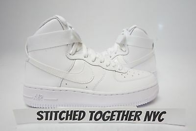 (653998-100) Grade School Youth Nike Air Force 1 High White/white