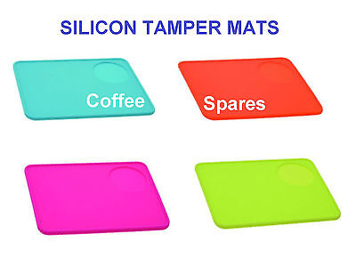 Coffee TAMPER MAT 200 x 150 x 6mm SILICONE in PINK, ORANGE, GREEN, BLUE or BLACK