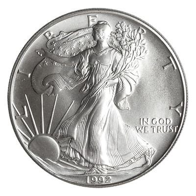 1992 $1 American Silver Eagle 1 oz Brilliant Uncirculated