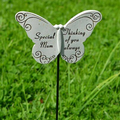 Thinking of Special Mum Butterfly Memorial Tribute Stick Graveside Plaque