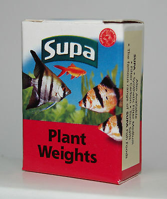 Aquarium Plant Weights Pre-Cut Lead Strips x10 in Box for Fish Tank Plants
