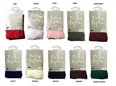 1x GIRLS SCHOOL/CASUAL NIFTY TIGHTS WEAR, COTTON SUPER SOFT COLOUR 1 - 12 YEARS