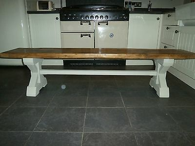 4ft 5 6 7 8ft X Frame Union Rustic country shabby chic reclaimed dining bench
