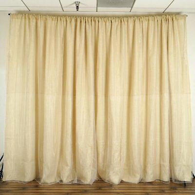 NATURAL BROWN BURLAP BACKDROP 20 10 feet Stage County Party Wedding Decoration