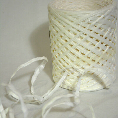 NEW Premium WHITE RAFFIA Natural Ribbon 35mm x 200m