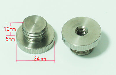 """2pcs 1/4""""-20 to 5/8""""-11 Threaded Female to Male fr Tripod laser level Adapter"""