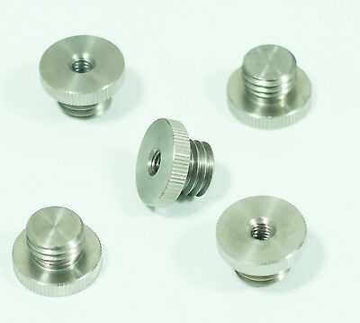 """5pcs 1/4""""-20 to 5/8""""-11 Threaded Female to Male fr Tripod laser level Adapter"""