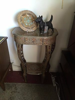 Syrian Handmade Wall Console With Inlaid Design