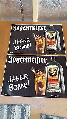 2 Jagermeister Jager Bomb Decal Stickers/18X12/new