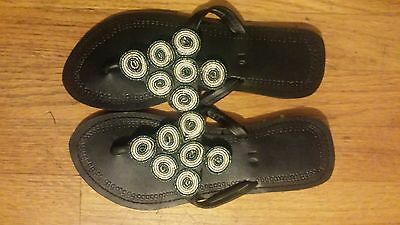 Masai beaded traditional slippers size 7