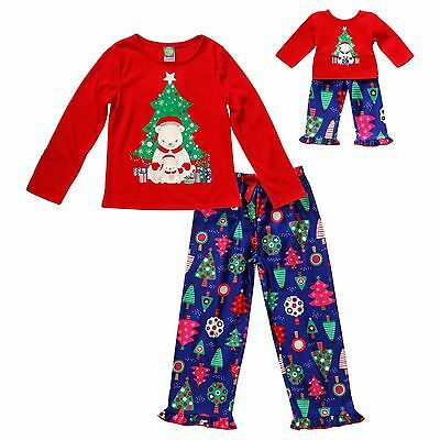 079721fdf3 Dollie   Me Girl 4-14 and Doll Matching Christmas Pajamas Outfit American  Girl