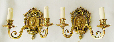 Old pair of French sconces Made in fine chiseled and polished bronzes