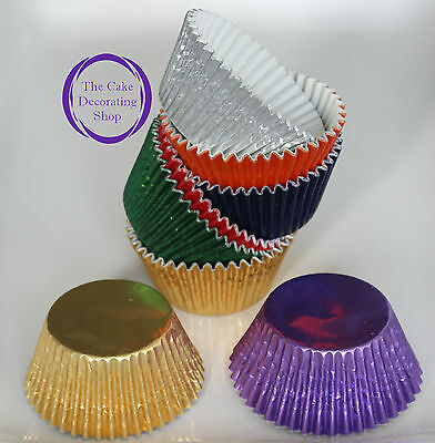 High Quality Foil Metallic Baking Muffin/ Cupcake Cases Various Colours