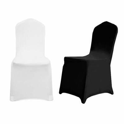 White Black Chair Cover Spandex Lycra Folding Banquet Wedding Party Covers Banqu