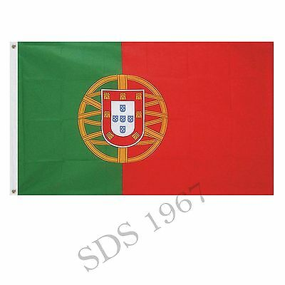 Portugal Portuguese Flag 5Ft X 3Ft
