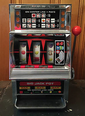 Vintage Waco Toy Slot Machine, Japan, Big Jack Pot, Battery Operated