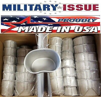 NEW!!  USGI Military Stainless Steel Canteen Cup 1 QUART With Butterfly Handles