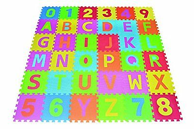 letters numbers puzzle play mat 36 tiles eva foam rainbow floor free ship