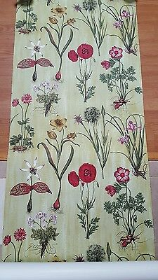 Rare SCALAMANDRE hand printed wallpaper botanical florentia Anthropologie STYLE