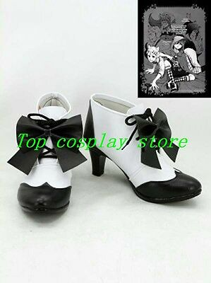 Black Butler Kuroshitsuji Ciel Cosplay brown with brown lace up Boots Shoes #BBC