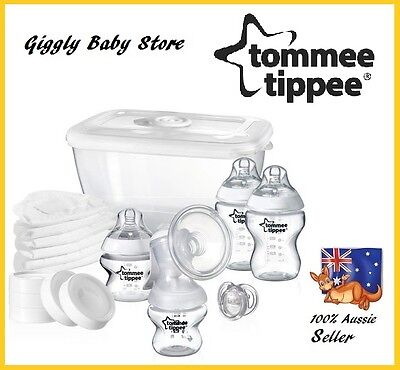 Closer To Nature Breast Pump Manuel New Tommee Tippee Feeding Kit Bottles Dummy