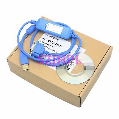Programming Cable CS1W-CIF31 USB to RS232 adapter for omron PLC WIN7 VISTA XP