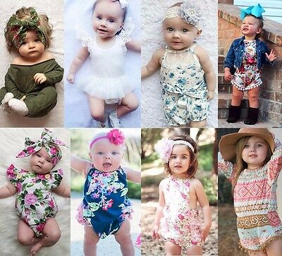 Newborn Baby Girls Clothes Bodysuit Romper Jumpsuit Outfits One pieces 0-18M