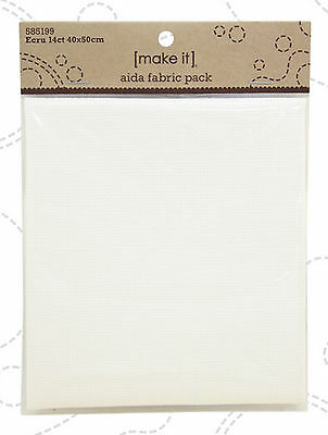 Ecru 14 ct  Aida Fabric 40 x 50 cm Pack