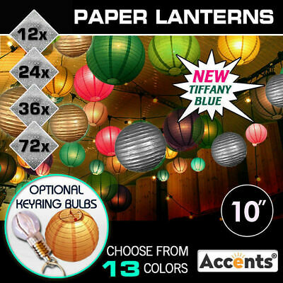 """12x 10"""" Paper Lanterns Party Chinese Wedding Home Decoration BULK ACCENTS"""