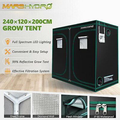 96''×48''×80'' Reflective Mylar Hydroponic Indoor Grow Tent Room Plant Growing