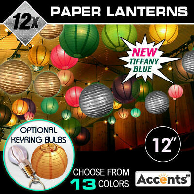"""12x 12"""" Paper Lanterns Party Chinese Wedding Home Decoration BULK ACCENTS"""