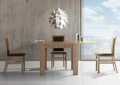 MODERN Dining FOLDING Table 90x76X90 WHEN UNFOLDED 180X76X90 Living Room Kitchen