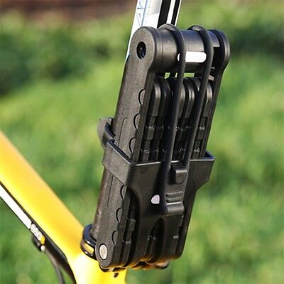 New Bicycle Bike Folding Link Plate Lock With Keys Security Anti-Theft IY