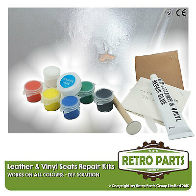 Smart Leather & Vinyl Interior Seat Repair DIY Kit -Burn Hole Rip