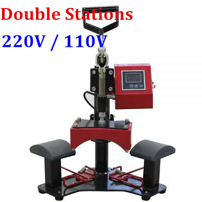Double Stations Cap Hat Transfer Heat Press Machine --110V / 220V