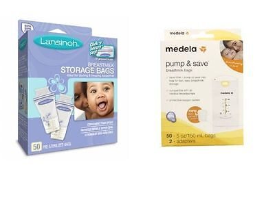 Lansinoh or Medela Breastmilk Storage Bags Pump and & Save 20 25 50, 100 or 200