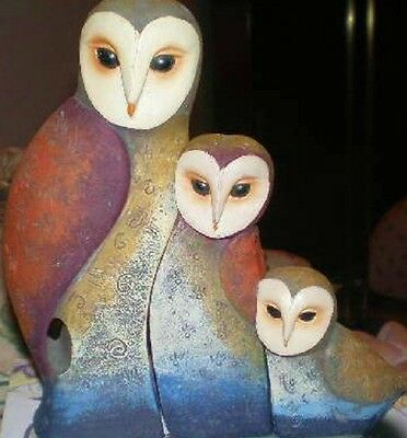 Three Interlocking Owls, Latex Craft Mould Ornament Reusable Art & Crafts Hobby