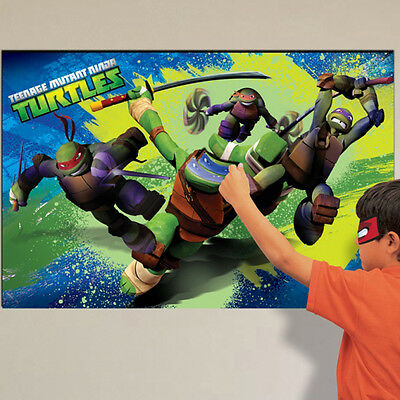 Teenage Ninja Turtle Party Game Play like Pin the tail on donkey Party Supplies