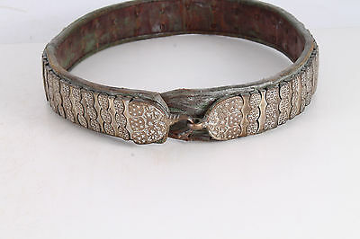 Rare Antique Authentic Handmade Silver and Leather Belt From Balkans.