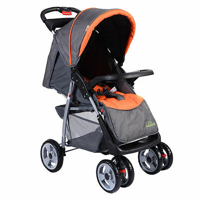 Baby Kids Travel Stroller Foldable Newborn Infant Buggy Pushchair Child Gray