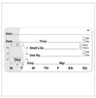"""DayMark IT110044 MoveMark Shelf Life/Use By Removable Label, 2"""" x 4"""" Roll of 500"""