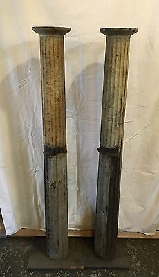 Pair of Cast Iron Flute/Ribbed Columns Architectural Salvage