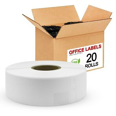 20 Rolls of 30252 Compatible Address Labels for DYMO 1-1/8'' x 3-1/2''