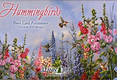Hummingbirds - Blank Card Assortment by Leanin Tree AST90633 - 20 cards with and