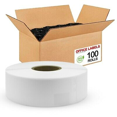 100 Rolls of 30252 Compatible Address Labels for DYMO 1-1/8'' x 3-1/2''