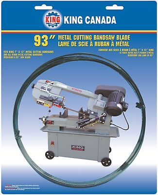 "King Canada Tools KBB-712-10 METAL CUTTING BANDSAW BLADE 93"" x 0.32"" x 10 TPI"