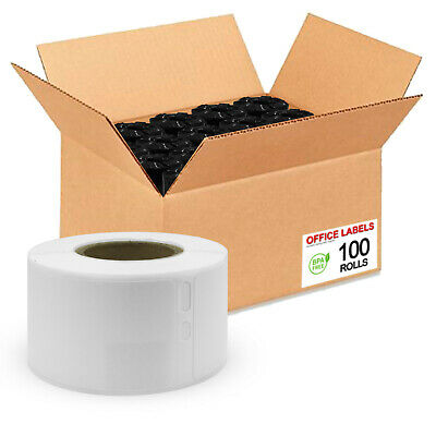 100 Rolls of SLP-2RL Compatible Labels for SEIKO® SmartLabel® 1-1/8'' x 3-1/2''